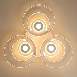 Image 4 - white modern Led Chandelier lighting for bedroom living room dining room acrylic lustre luminaria lampadario Ceiling Chandelier