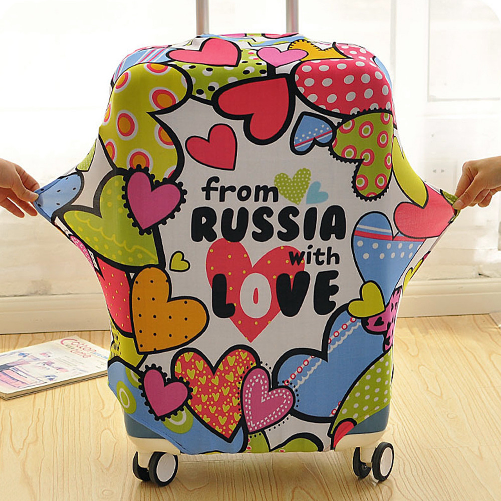 Russian Style Case Suitcase Protective Cover For Trolley On Wheels 18 30 39 39 Busy Board Suicase Covers Dust Bag Travel Accessories in Travel Accessories from Luggage amp Bags