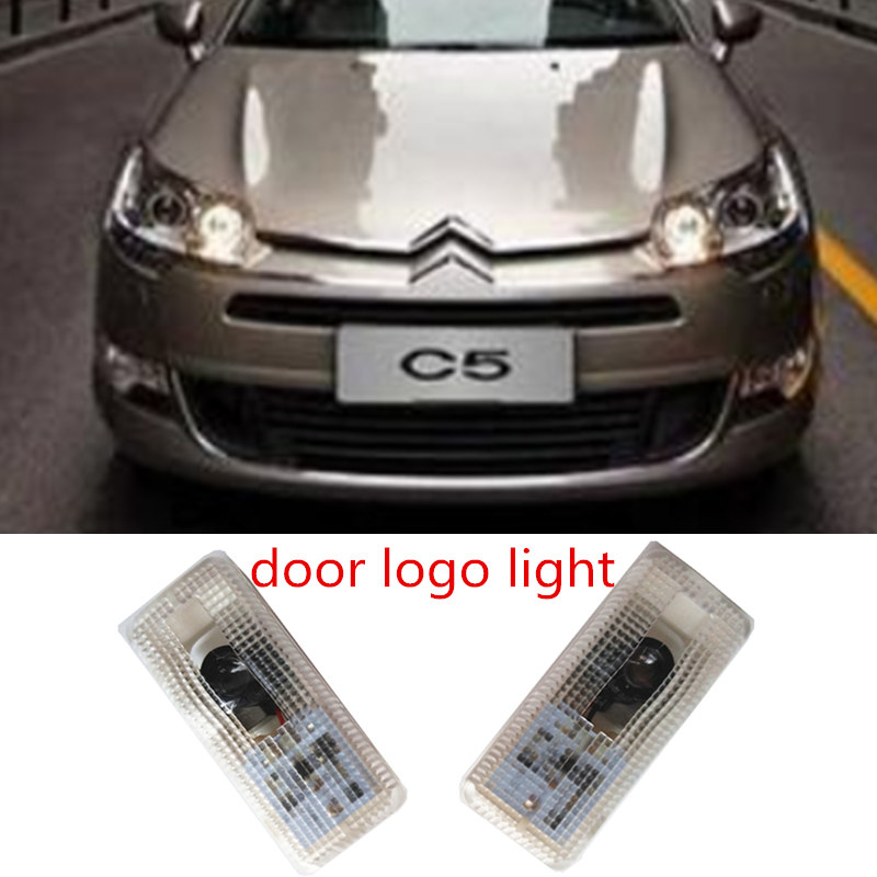 car door light ghost shadow welcome light logo projector emblem for Citroen c2 c3 c4 c5 xsara picasso saxo
