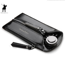 Genuine Leather Key Wallet Women Keychain Covers Zipper Key Case Bag Men Key Holder Housekeeper Keys Organizer PL307(China)