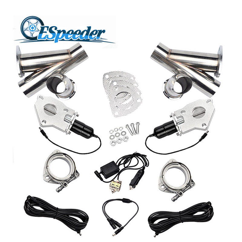 ESPEEDER 3.0 Inch Exhaust Cutout Stainless Steel Y Headers Catback Pair Manual Switch Cut Out Pipe Kit - 32611904059,356_32611904059,92.63,aliexpress.com,ESPEEDER-3.0-Inch-Exhaust-Cutout-Stainless-Steel-Y-Headers-Catback-Pair-Manual-Switch-Cut-Out-Pipe-Kit-356_32611904059,ESPEEDER 3.0 Inch Exhaust Cutout Stainless Steel Y Headers Catback Pair Manual Swi