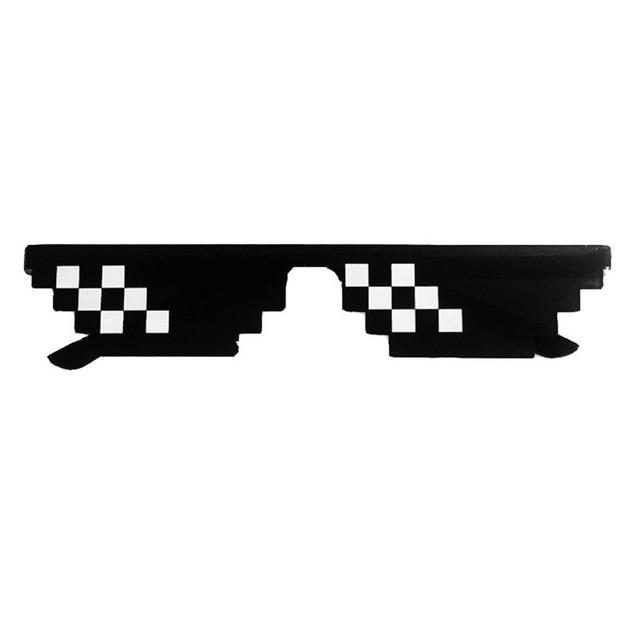 2019 Retro Glasses 8 Bit MLG Pixelated Sunglasses Men's Women's Clothing Brand Thug Life Party Glasses Mosaic UV400 Glasses 4