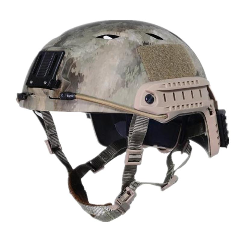 Tactical Protective Jump Helmet ACH Base Sports Fast Helmet BJ Military A TACS CP ACU WOODLAND DESERT FG HLD TYPHON Size LXL