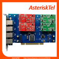 Asterisk Card TDM410P with 2 FXO+2 FXS ports,TDM400P,PCI Analog Telephony FXO Card FXS Card