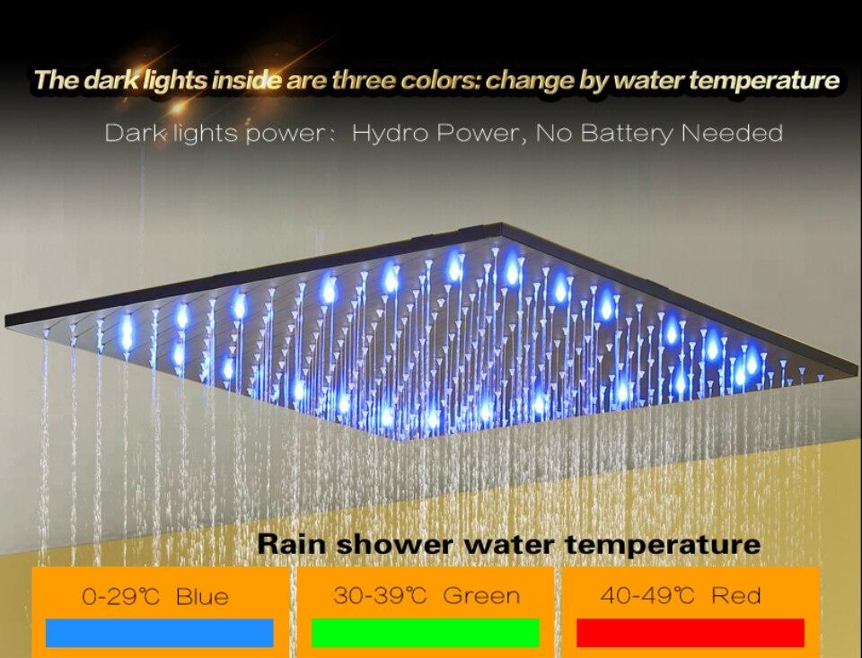 Badkamer douche kraan set blacken douche panel regen plafond water