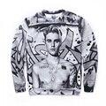 Justin Bieber Cogumelo Harajuku Treino Camisolas Dos Homens Hoodies Outono Inverno 3D Animal Engraçado Casal Roupas Streetwear Casuais