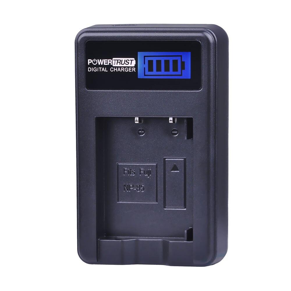 PowerTrust NP-85 NP85 NP 85 LCD USB Charger for Fujifilm S1 SL1000 SL240 SL245 SL260 SL280 SL300 SL305 Camera Battery