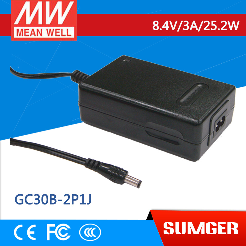 1MEAN WELL original GC30B-2P1J 8.4V 3A meanwell GC30B 8.4V 25.2W Power Adaptor with Charging Function стетоскопы b well стетоскоп механический b well ws 3