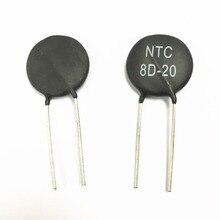 Frete grátis 50 pcs 8D 20 NTC8D 20 NTC Varistor resistor térmica 8R 20mm Novo e original