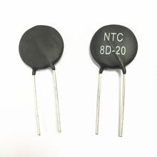 Il trasporto libero 50 pz resistenza termica NTC8D 20 NTC 8D 20 Varistore 8R 20mm Nuovo ed originale