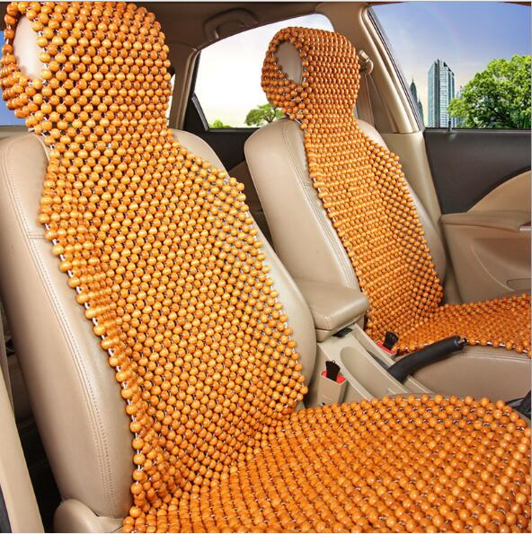 Universal Car Seat Cushion Pad Natural Camphor Wood Massage Comfortable Car Seat Cover Summer Use Interior Accessories luxury car seat cushion hand woven ice silk with wood beads car seat cover summer front