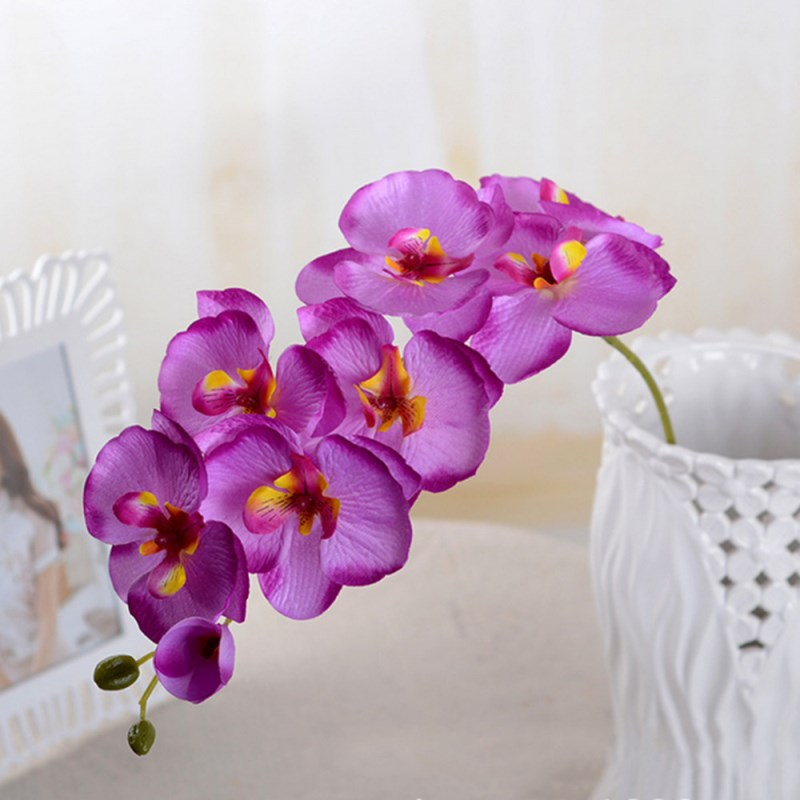 ᗐUpscale Phalaenopsis Artificial Flowers DIY Artificial Butterfly ...