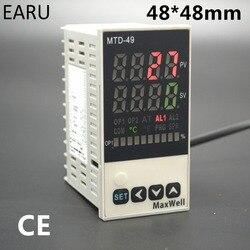 48*96mm cyfrowy regulator temperatury sterowania AC85-265V termopary K J Universial zasilania PT100 wejście SSR + przekaźnik/ 4-20mA wyjście