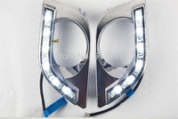 12V 10W Cold White LED Daytime Running Lights Day Fog Lamps 2pcs Per Set For SUNNY