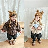 Лидер продаж для маленьких мальчиков теплые пальто новорожденных Для малыша; на каждый день хлопок толстый куртка из овечьей шерсти для мал