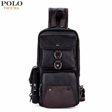 VICUNA POLO High Capacity Practical Black Mens Crossbody Bag With Air Cushion Belt Mens Messenger Bag Travel Shoulder Bags Male