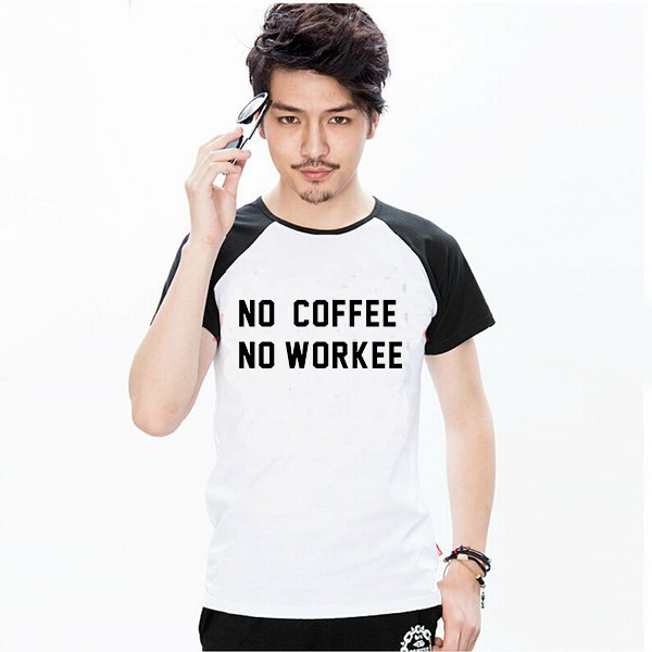 600PX Raglan Short Sleeve T-shirt No Coffee 1