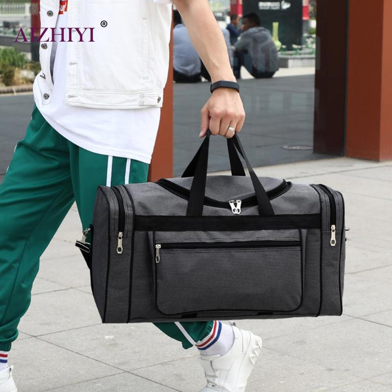 Unisex Waterproof Men Sports Gym Bags New Leisure Yoga Fitness Shoulder Women Handbags Large Capacity Nylon Portable Travel Bags