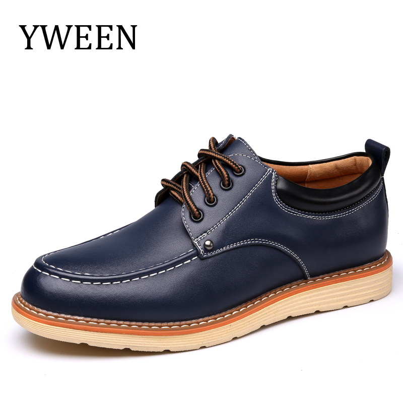 Man Casual Shoes Spring Autumn Lace Up Style Pu Leather Fashion Trend Flats Rubber Low heeled Men Business Shoe leather casual shoes zapatillas hombre casual sapatos business shoes oxford flats hand made man shoe free shipping sv comfort