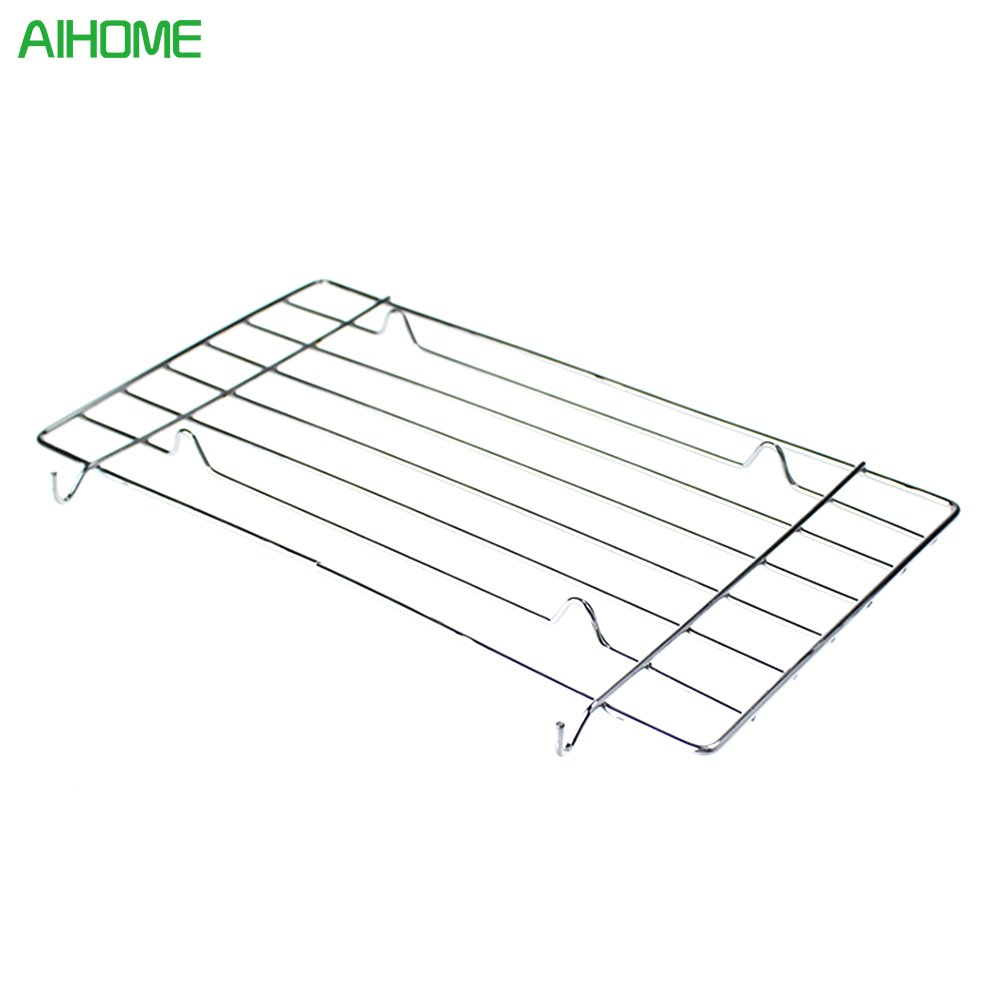 1pcs Stainless Steel Wire Steaming Barbecue Rack BBQ Grill Mesh Oven Net Carbon Grill