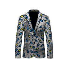 Handmade African Print Mens Blazer Fashion Ankara Design Jacket Business Suit Clothing