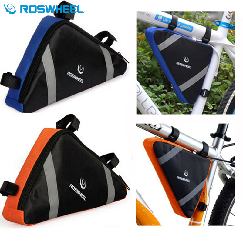 ROSWHEEL Front Tube Frame Triangle Pannier Para Bicicleta Pouch Bicycle Cycling Basket Mountain Bike Rack Bag Accessories cycling triangle bicycle front tube frame bag outdoor triangle bicycle front bag mountain bike pouch frame bag bike accessories