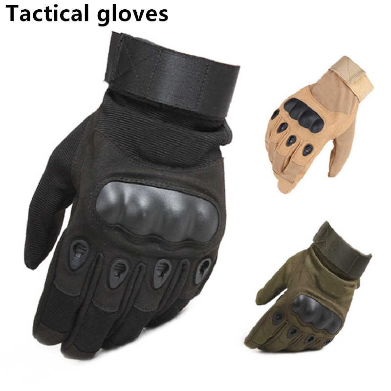 Motorcross Tactical Gloves Hard Knuckle Full Finger Gloves Men Airsoft Paintball Hunting Shooting Special Army Military Combat