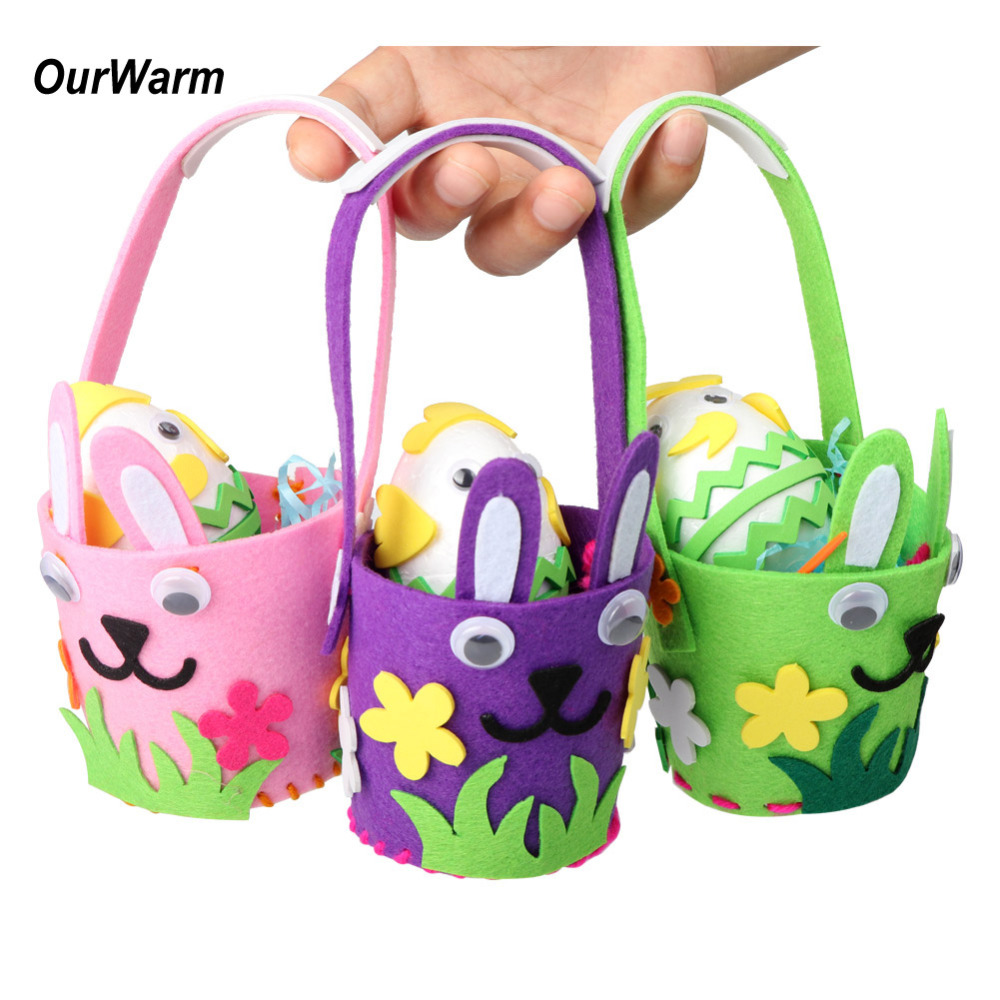 Ourwarm 3 Sets Easter Decoration Handmade Felt Diy Craft