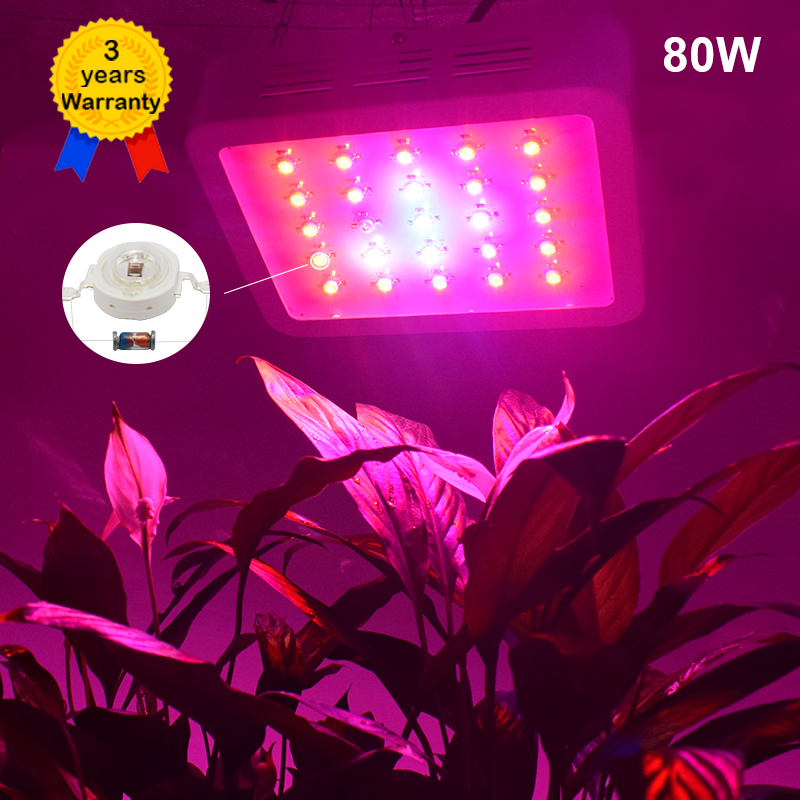 80W LED Grow Light Full Spectrum plant lights Lighting Fitolampy Lamp Lamps for Plants Flowers