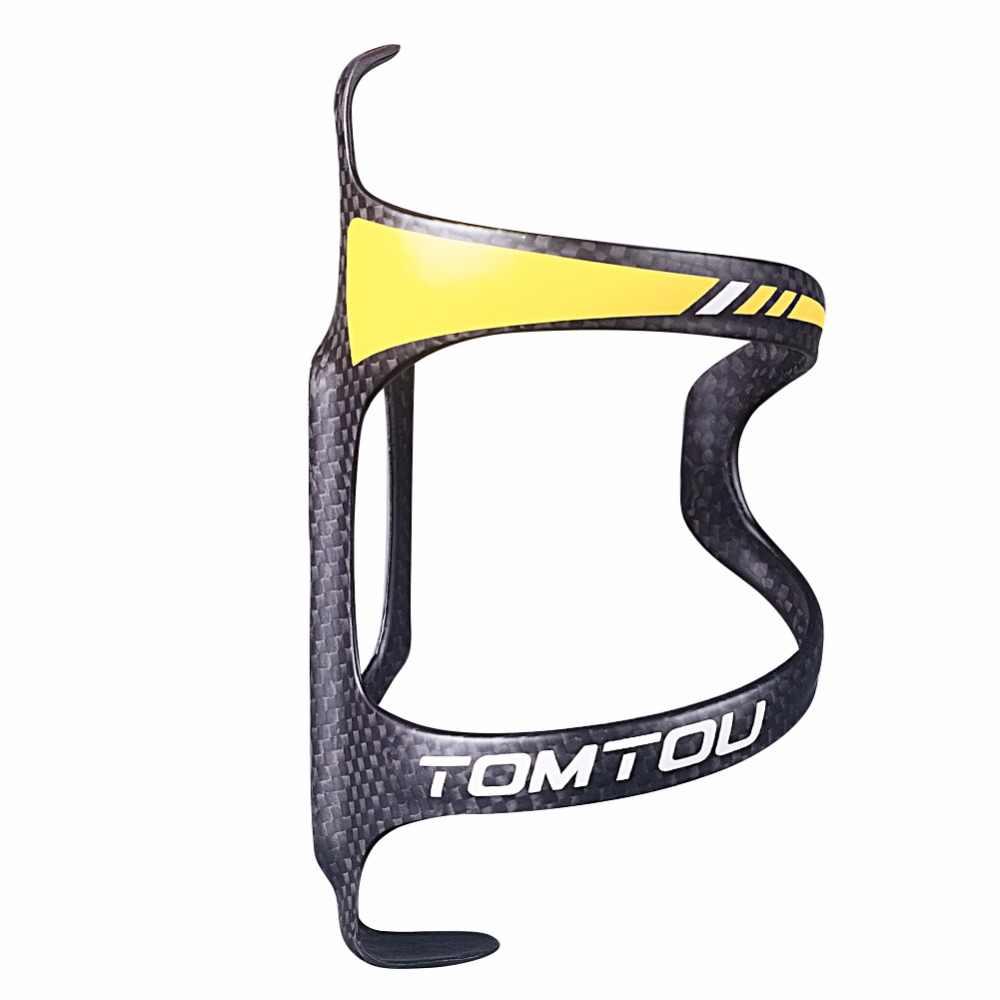 TOMTOU сверхлегкий полный 3 к карбоновый держатель для бутылки для воды для дороги/горного велосипеда Велоспорт MTB Бутылка клетка 2 шт./лот