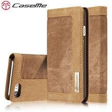 Caseme телефона чехол для Apple iPhone 7 7 плюс 6 6S плюс 5 5S SE Роскошные ретро джинсы ткань pu Стенд Флип Слот для карты покрытия чехол для телефона