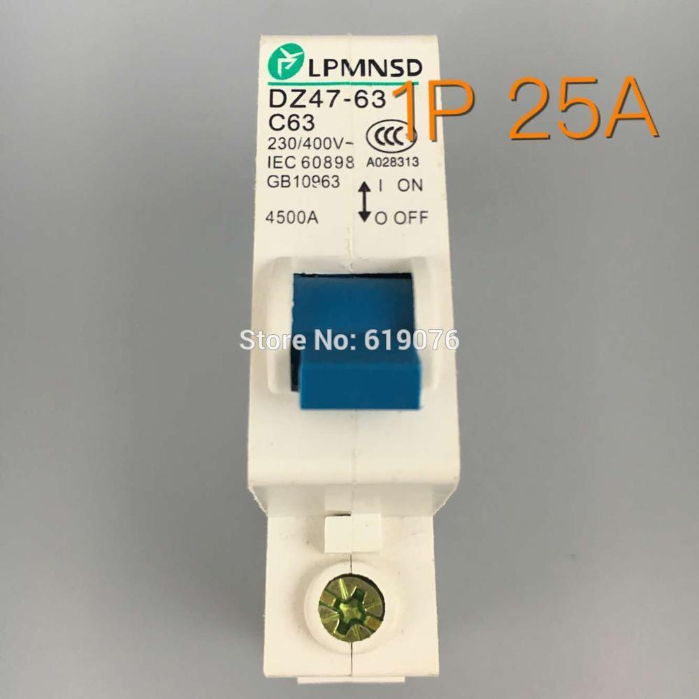 1P 40A 230//400V~ 50HZ//60HZ Mini Circuit breaker MCB C45 C TYPE