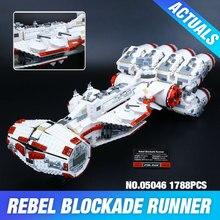 Lepin 05046 Nouveau 1748 Pcs Star War Série Le Tantive IV Rebel Blockade Runner Jeu Éducatif de Construction Blcoks Briques Garçon jouets