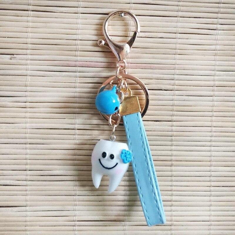 Cartoon Teeth Keychain Dentist Decoration Key Chains Men Key Chain Women Key Ring Cute Shape Dental Clinic Gift Girl Keyring