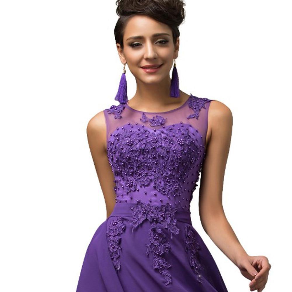 Maxi largo Vestidos más tamaño 3xl 4xl 5xl púrpura v-back gasa de ...