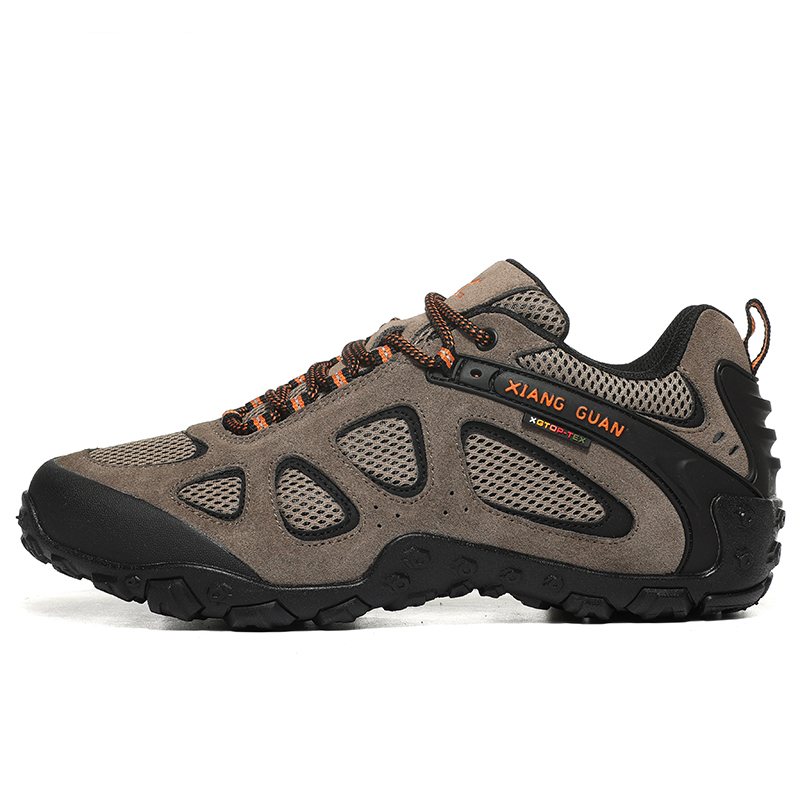 Big Size Unisex Leather + Mesh Hiking Trekking Shoes Sneakers For Men Women Climbing Mountain Tourism Hunting Shoes Sneakers Big Size Unisex Leather + Mesh Hiking Trekking Shoes Sneakers For Men Women Climbing Mountain Tourism Hunting Shoes Sneakers