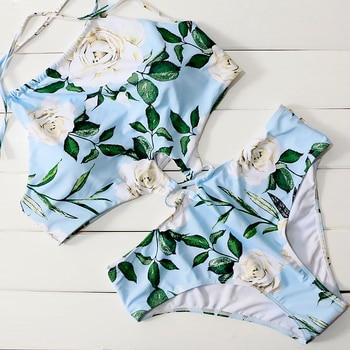 Floral Print Monokini Swimsuit 2