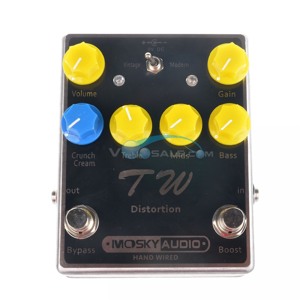 Mosky TW Distortion Guitar Effect Pedal High Quality With Capacitors Resistors IC Three Band EQ Effect