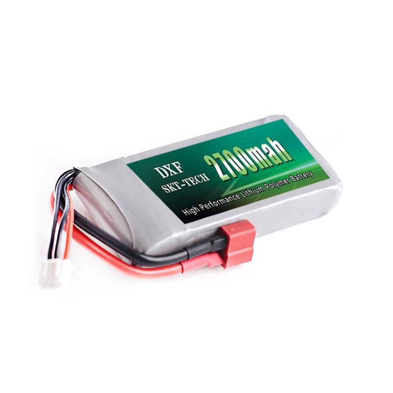 DXF Lipo Batterie 2 s 7.4 v 2700 mah 20C Max 40C pour Wltoys 12428 12423 1:12 RC Voiture De Rechange pièces Rc Lipo Batterie