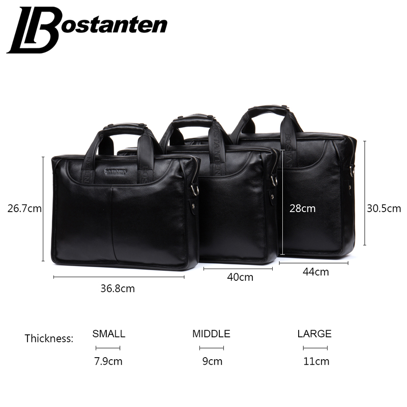 Image 2 - Bostanten 2019 New Fashion Genuine Leather Men Bag Famous Brand Shoulder Bag Messenger Bags Causal Handbag Laptop Briefcase Male-in Briefcases from Luggage & Bags