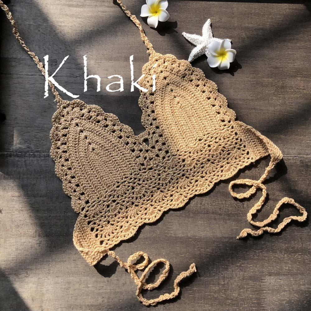 khaki crop top