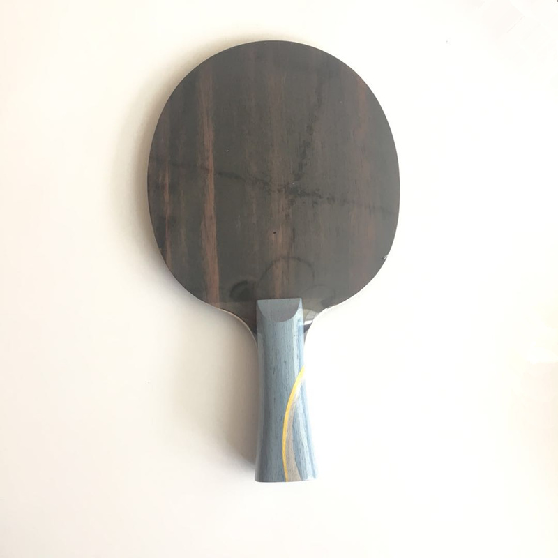 Lemuria DIY W968-5 Table Tennis Racket 7 Ply Structure FL ST CS Handle Ebony Face Wood Arytlate Carbon Ping Pong Bats
