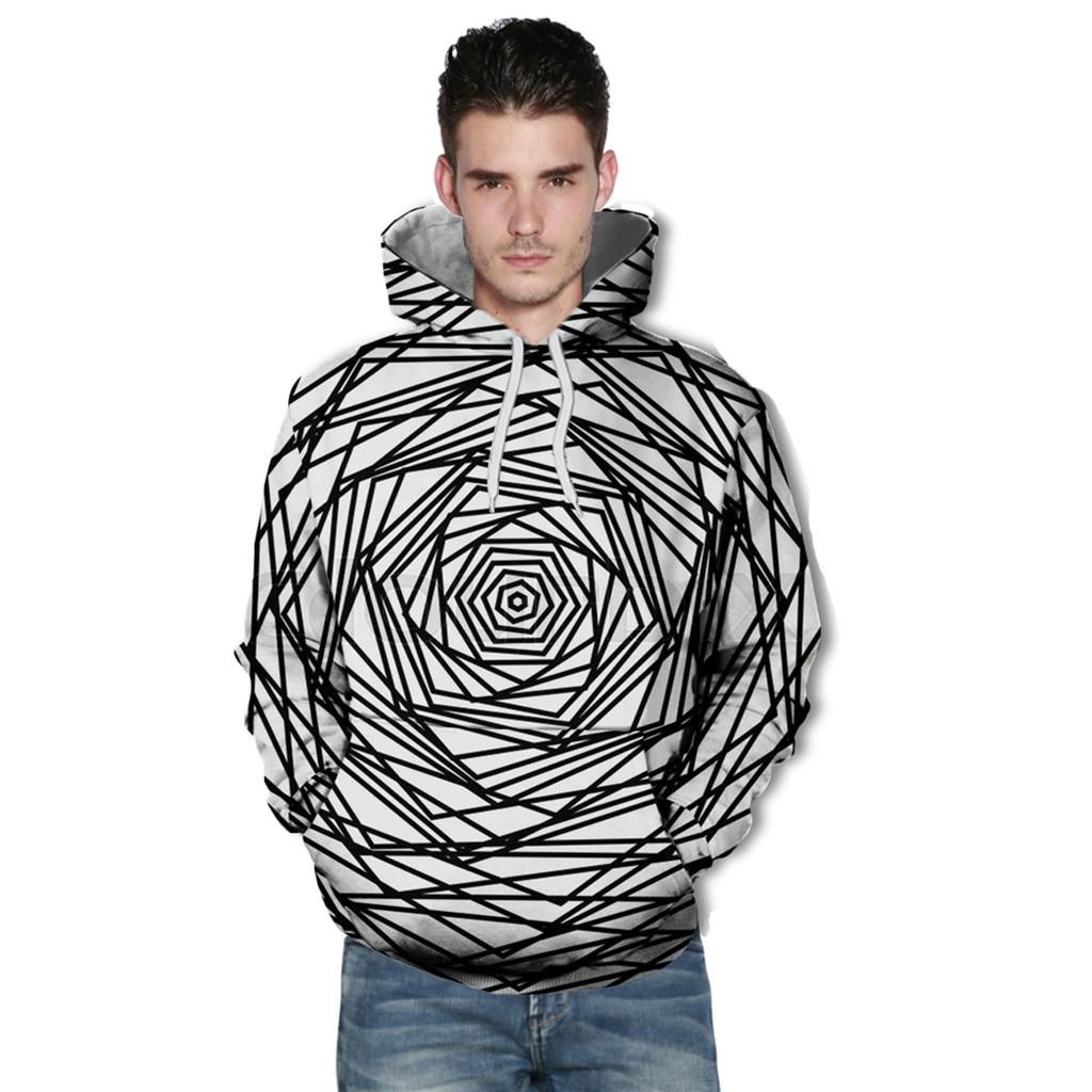 Новое поступление 2018 Мода Loves' повседневное осень зима печати с длинным рукавом толстовки Толстовка мужская Спортивная