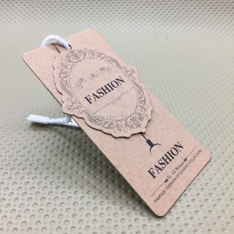 customize clothing kraft paper hang tag/garment bag printed tags/cardboard tags/clothing ...