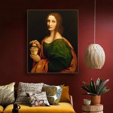 Woman Lady Famous Oil Painting By Vinci  on Canvas Printings Art Home Decor Wall Picture for Living Room Church