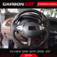 Carbon Fiber Glossy Black Steering Wheel Replacement Suitable For Infiniti QX70 QX50 Q50 G37 carbon steering wheel