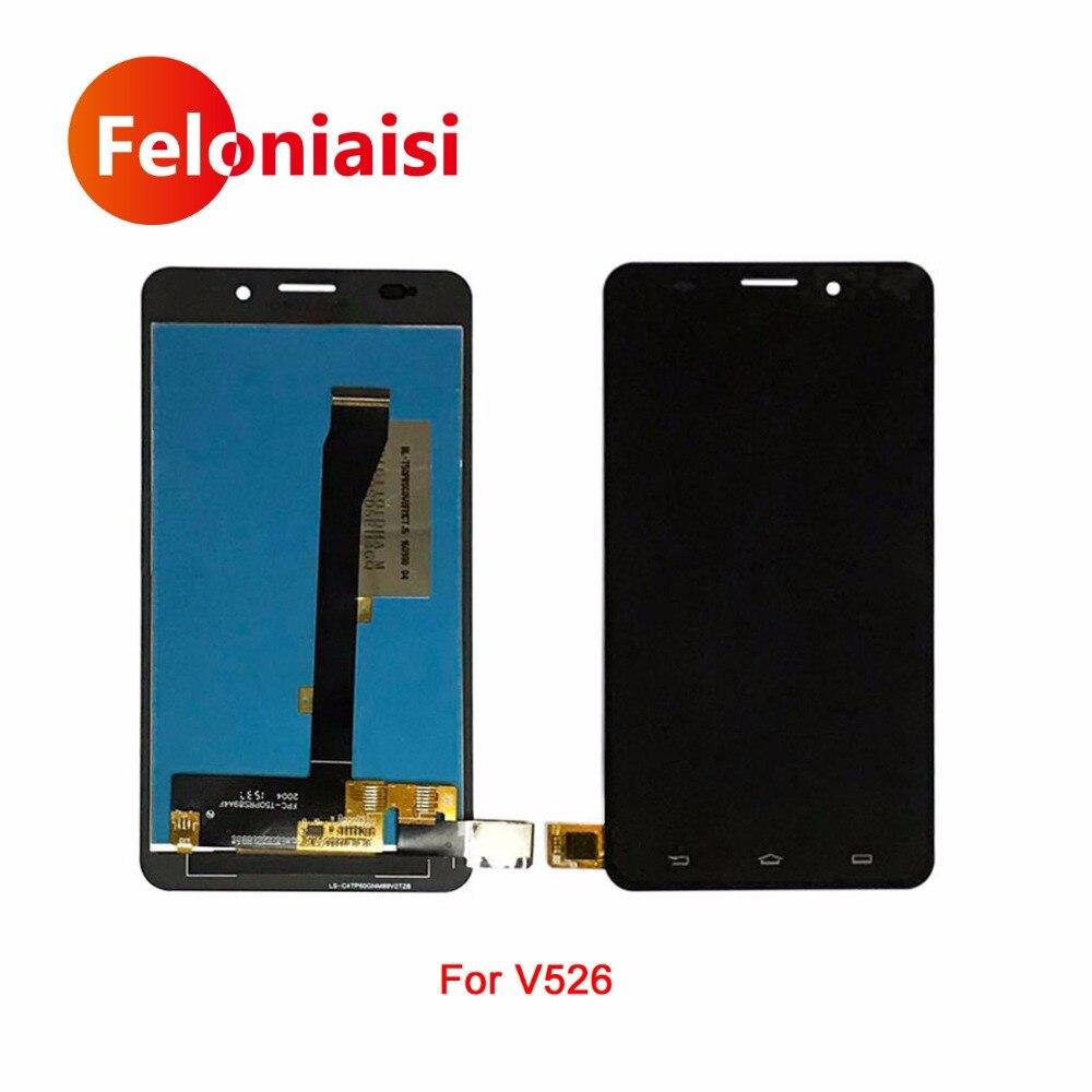 Haute Qualité 5.0 Pour Philips Xenium V526 Lcd Full Display Avec Écran Tactile Digitizer Panneau Assemblée Complet + de Suivi code