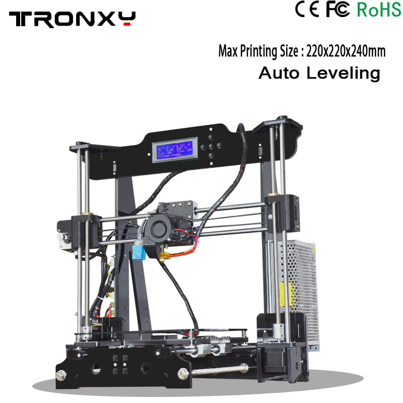 Large Size 3d printer Reprap DIY Assembly 3D Printer Kit 220x220x240mm With Free 1Roll Filament 8GB SD Card LCD Video Gift