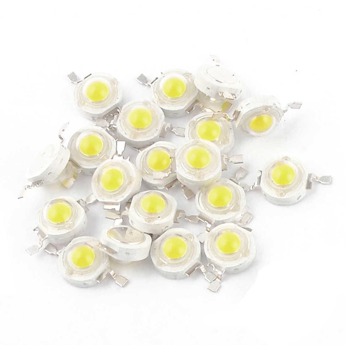 20 Pcs Alto Potere 2 Spille 3W Bianco LED Emettitori 170-190Lm 6000K