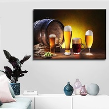 Food Painting 1 Piece Top-Rated Canvas Print Beer Cellar Wooden Pot Picture Modern Artwork Bar And Restaurant Wall Decorative майка print bar формула 1